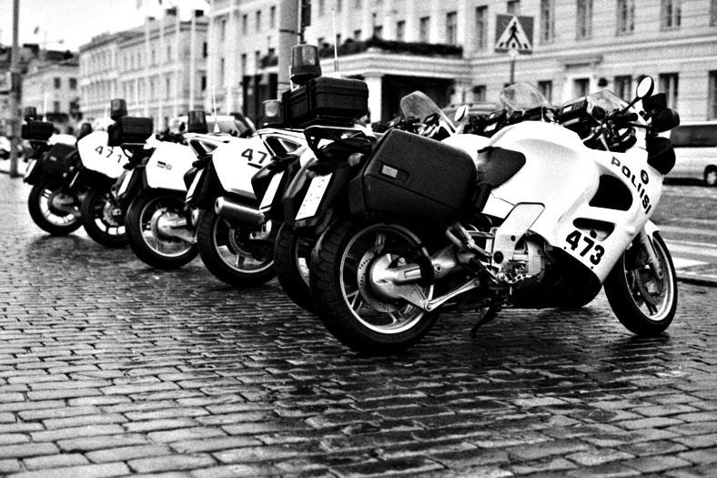 Police line up